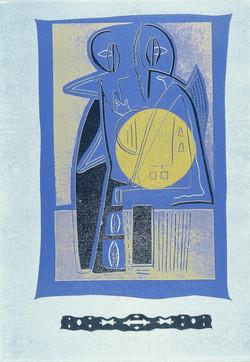 The Blue Room  Lino-Cut 1/5 18x24