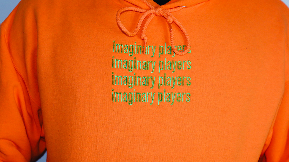 Imaginary Players Neon Orange Hoodie
