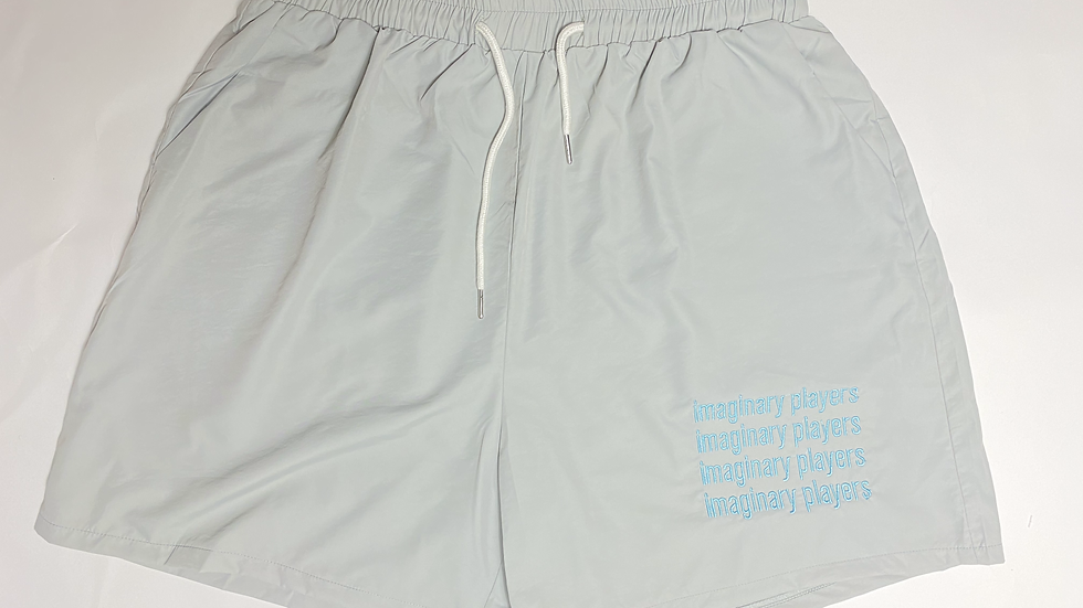Wolf Grey Windbreaker Shorts