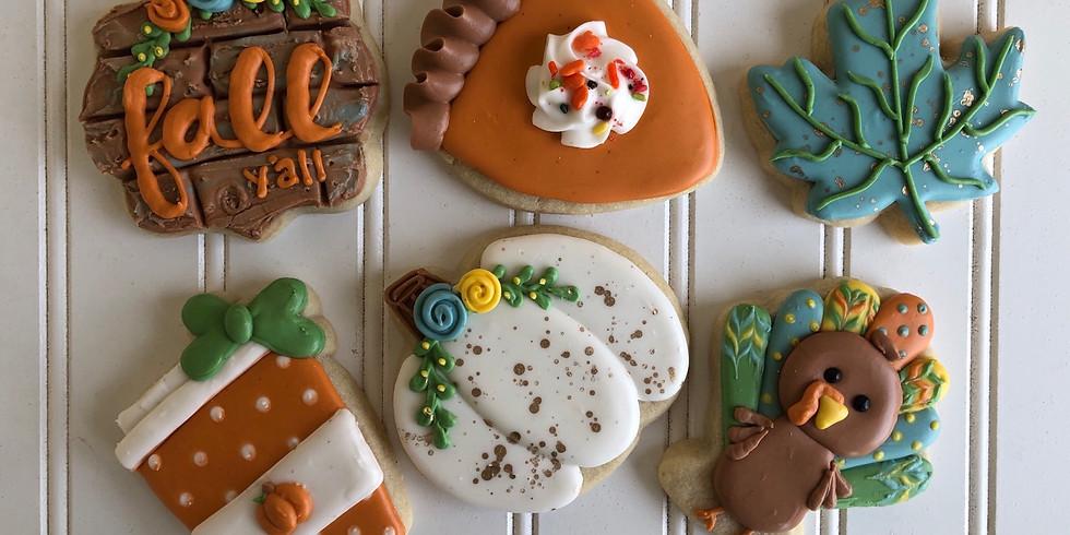 Turkey-tastic cookie decorating class!