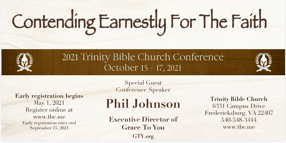 Contending Earnestly for the Faith 2021 Conference