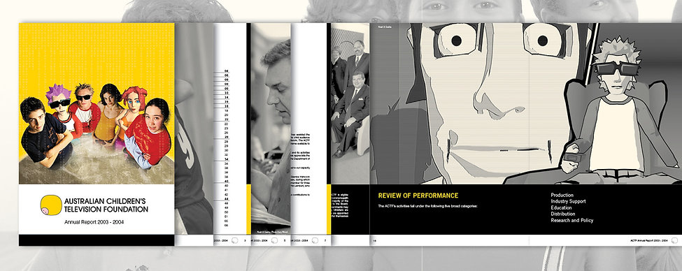 Annual Report, ACTF, Spot color design, magazine design