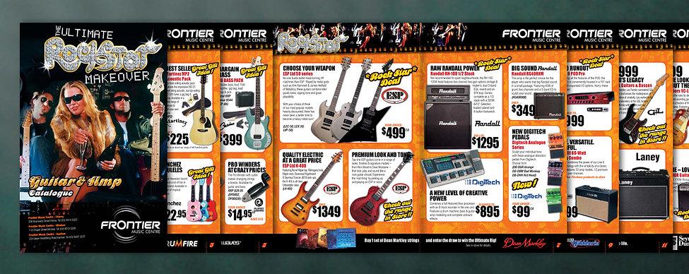 sale catalogue design, rockstar, brochure design, logo design