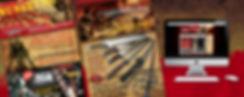 Global gear, wicked replicas, swords, preditor, brochure design, web design, logo design