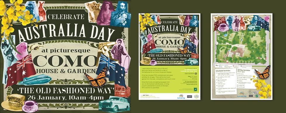 Como House, National Trust Victoria, event promotion, flyer design, poster design
