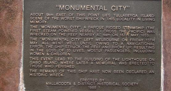 Monumental City plaque