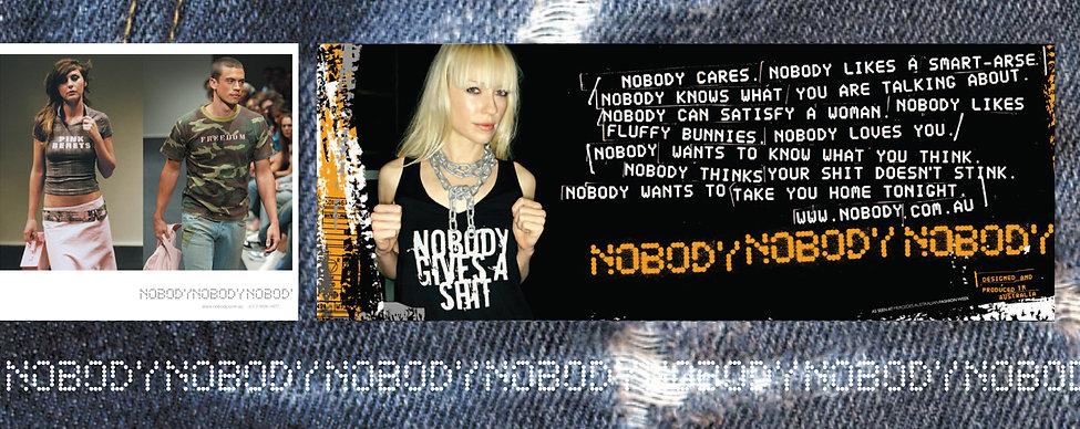 Nobody denim, fashion brand, melbourne fashion, fashion show, logo design