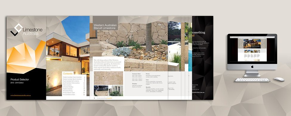 Limestone Australia, brochure design, website deisgn