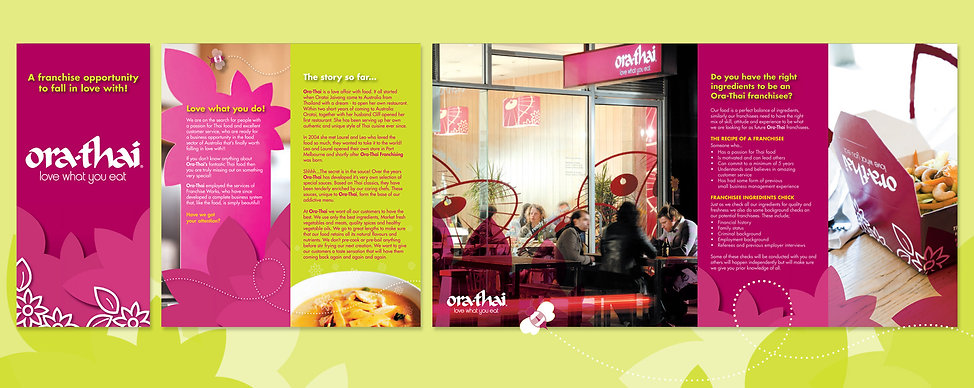 Thai food, thai food port melbourne, brochure design, food packaging