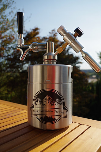 1/2 gallon (64oz) mini-keg with Tap system and CO2 regulator