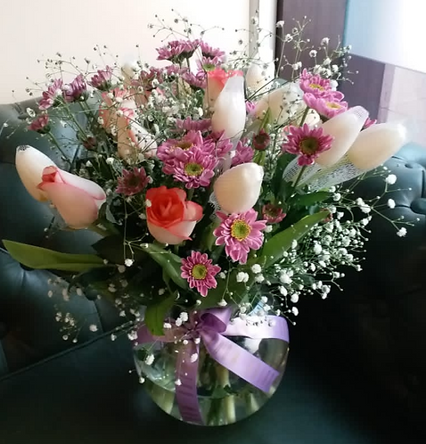 Tulips & Daisy Arrangement