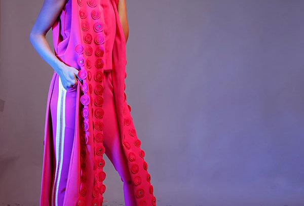 ZARA Pink Trench jacket w/circles (free size)