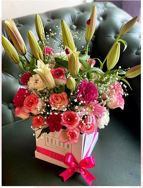 Lilies in pretty pink