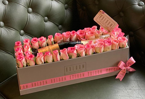 Champagne Box in Pink