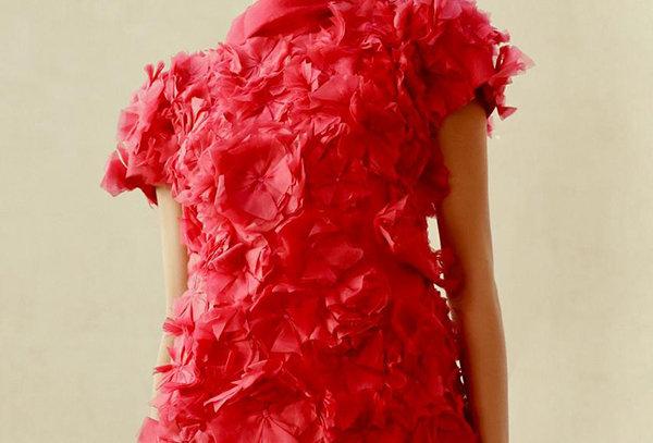 JUNO Floral Applique Organza and Knit short Dress -