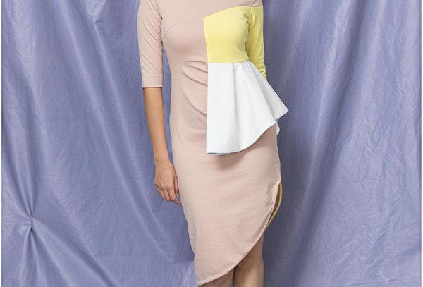 Structured Colour blocked Dress - STRT