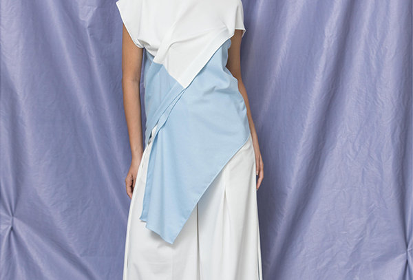 Structured Drape Pants with Belt