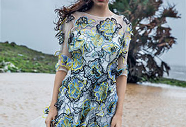 SPRING Floral Applique Dress