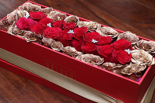 Gold and Red Love Box