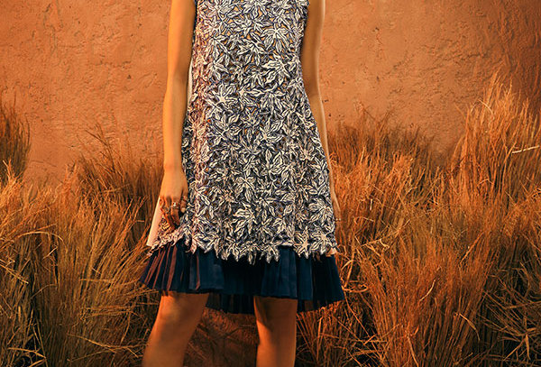 WAVE Allover Cutwork Dress