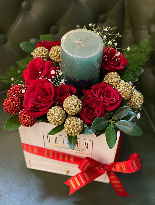 Christmas Candle box with chocolates