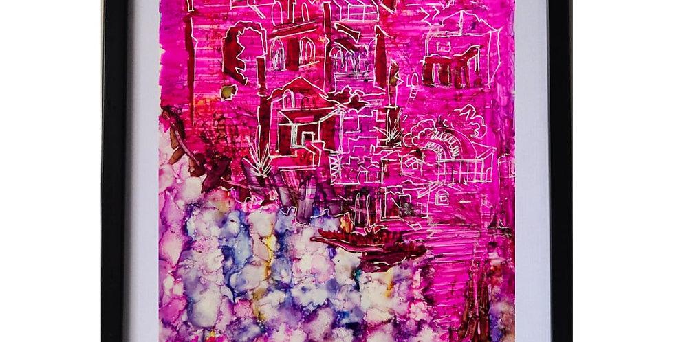 BARCELONA RUBY ROCKS,MIX MEDIA ART