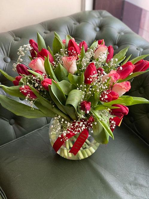 Love Tulip Mix - in a vase