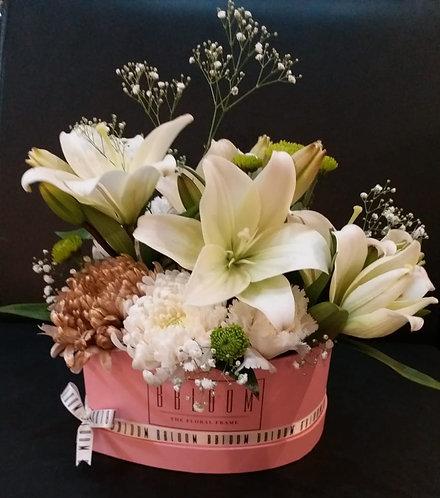 Lilies heart box