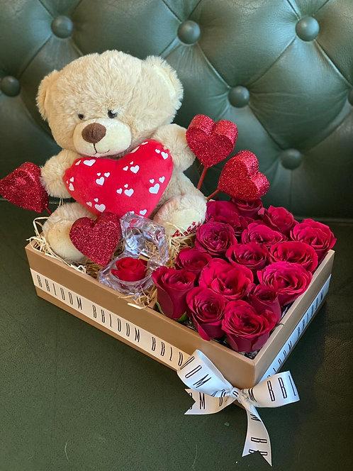 Teddy heart box