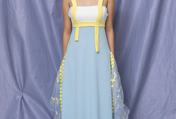 Strappy Dress with Hexagon Applique - ART 01
