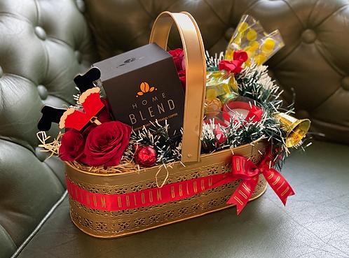Christmas Basket with Coffee
