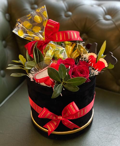 Luxe Velvet box with Chocolates