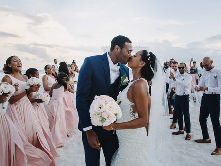 Tropical Barbados beach wedding | Kelley & Michael