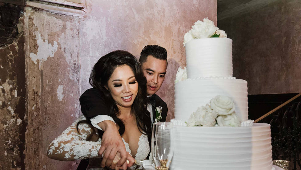 16th Street Train Station Wedding Photo