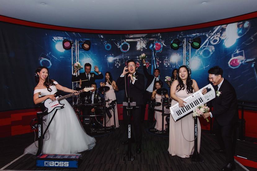 Grammys Museum Wedding Photo