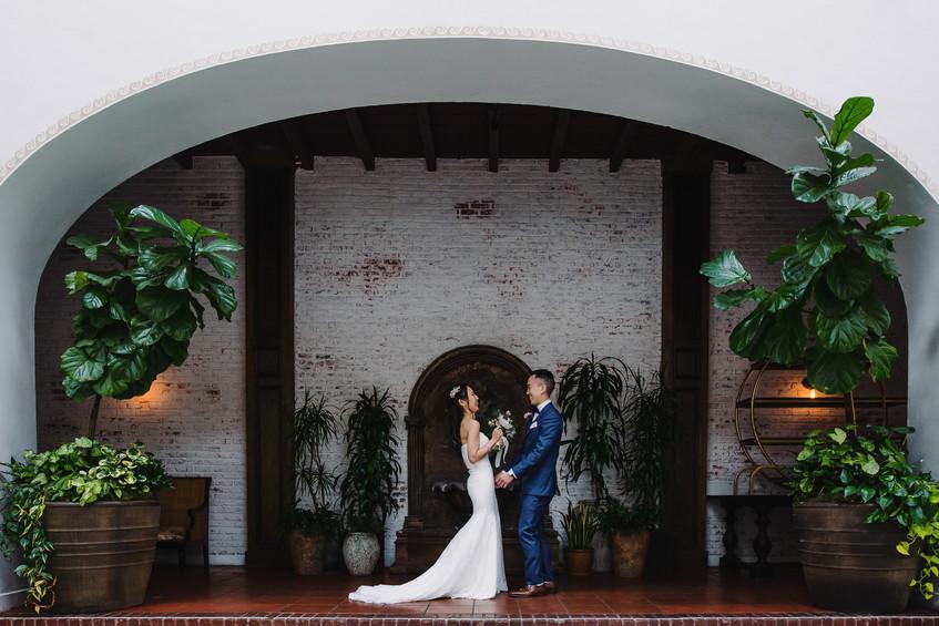 The Ebell Club Long Beach Wedding First Look