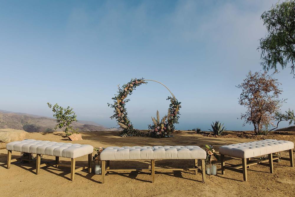 Malibu Hills Wedding Ceremony
