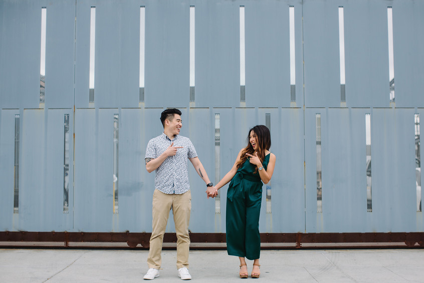 Downtown Los Angeles Engagement Photoshoot