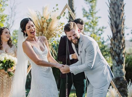 Modern Cree Estate, Palm Springs Wedding | Sam + Ando