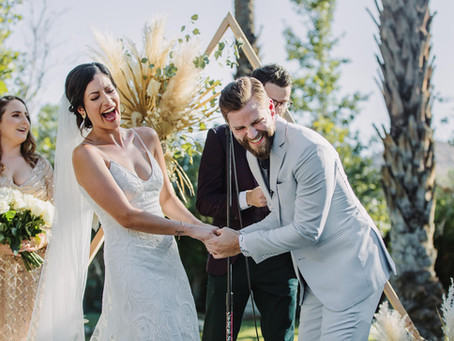 Modern Cree Estate, Palm Springs Wedding | Sam + Ando