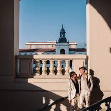 Pasadena City Hall Engagement Photoshoot