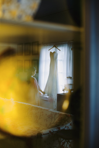 Bride with the dress