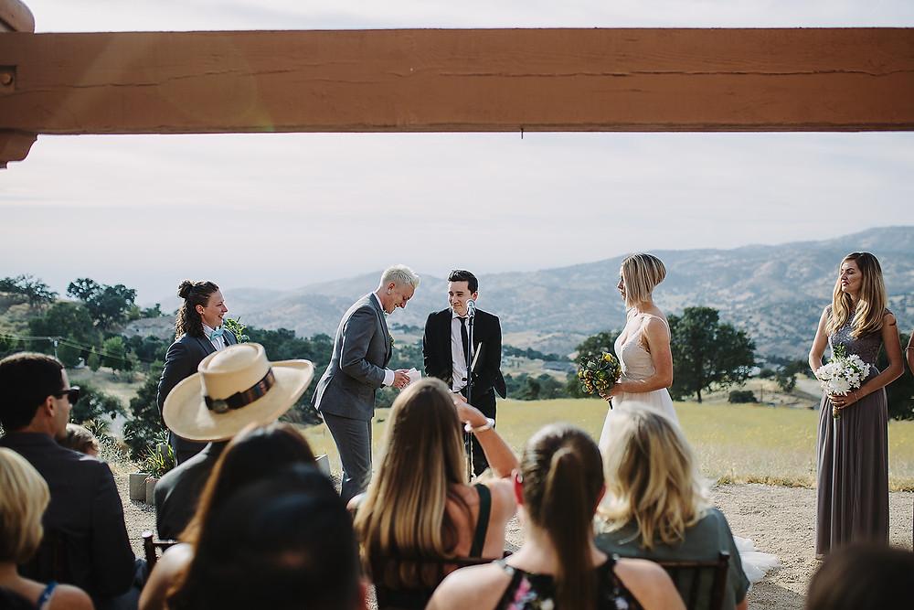 Malibu HIllside Wedding