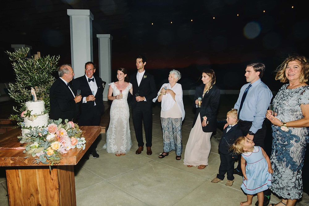 Intimate Malibu Wedding Reception