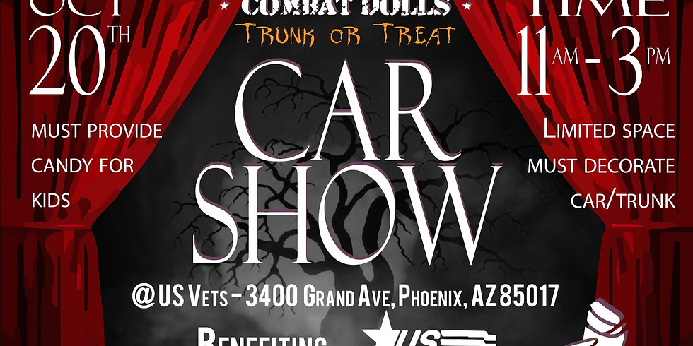 Combat Doll's Trunk or Treat Car Show