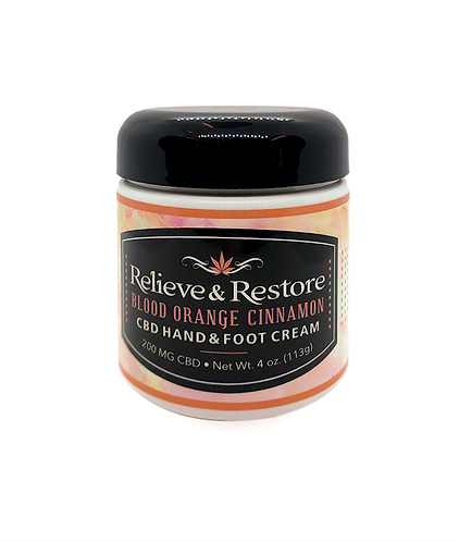 Cinnamon and Blood Orange Relieve and Restore Cream - 200mg CBD