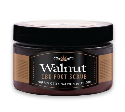 Walnut CBD Foot Scrub  4 oz. - 100mg CBD
