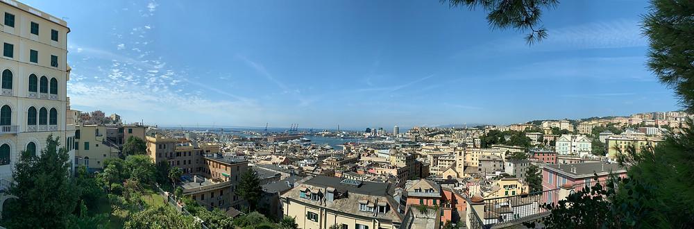 vue panoramique de Gênes, Italie