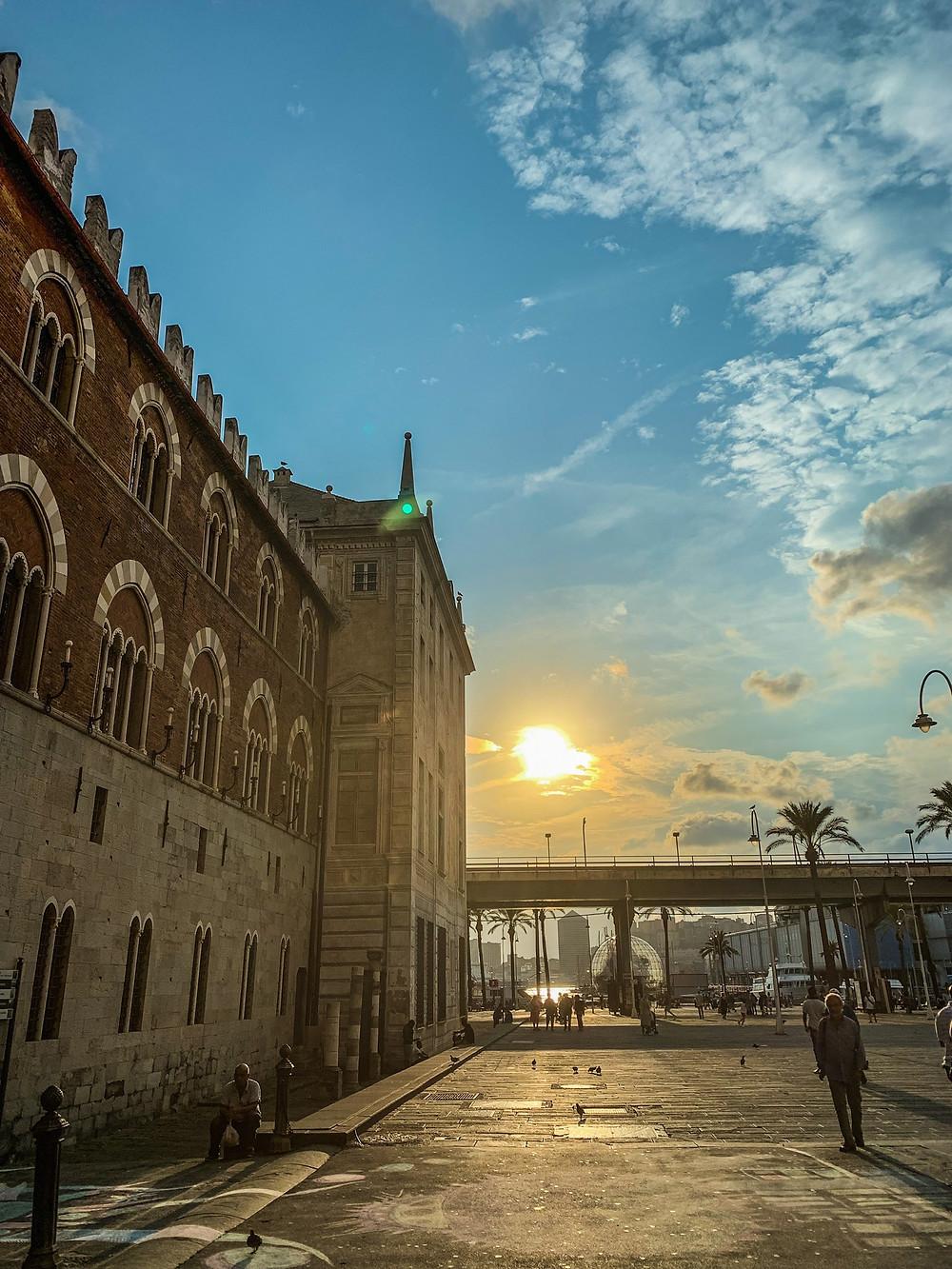 Port antique de gênes Italie