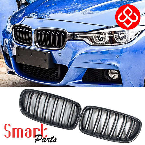 BMW 3 SERIES CARBON FIBER KIDNEY GRILLE FOR F30 2012-2019